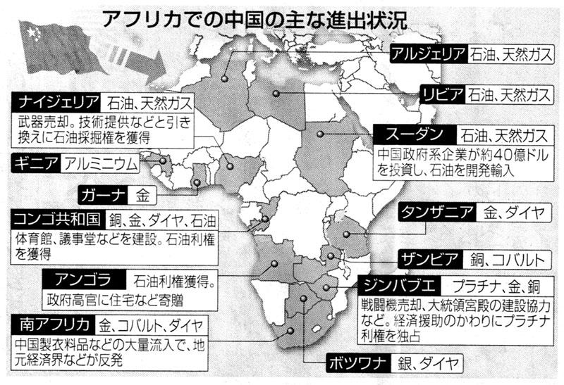中国のアフリカ進出