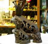 鉄カエル香炉