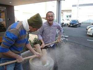 陽風荘2009年12月18日餅つき大会 006