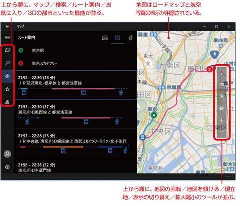マップの画面構成