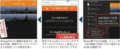 iTunesなしで動画をワイヤレス転送iPhoneユーザー必携のプレイヤー