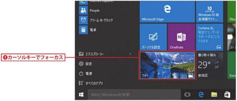 Windowsキーで[スタート]メニューを表示します