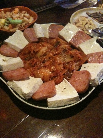 豆腐とスパムとキムチの炒め物??