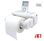 Stereo Dock for iPod with Bath Tissue Holder