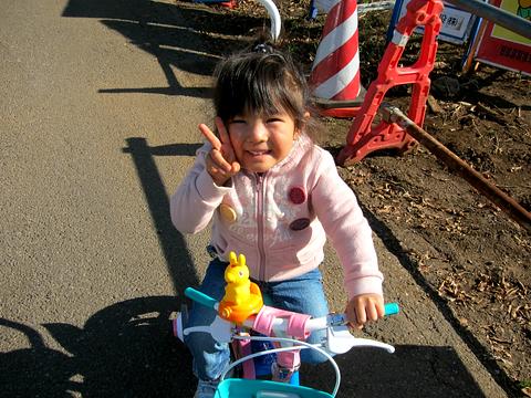 娘の自転車デビュー