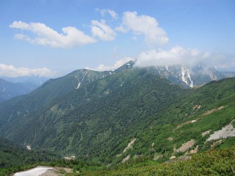 IMG_3459登山道から見る鹿島槍ヶ岳