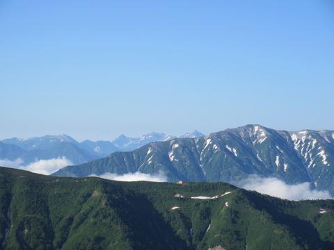 IMG_3493登山道から見る槍ヶ岳