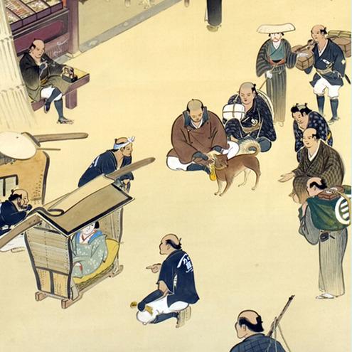 掛軸「金毘羅狗図」(部分図)