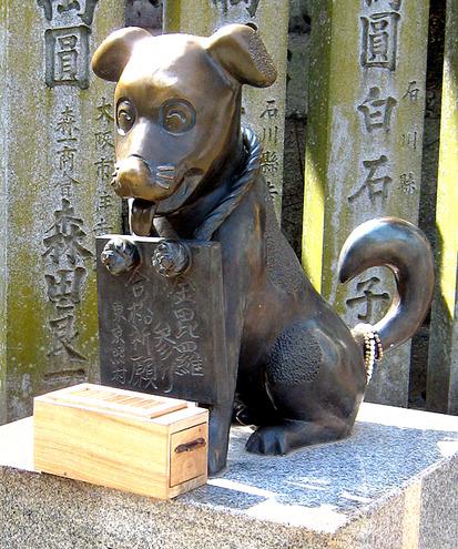 こんぴら狗銅像