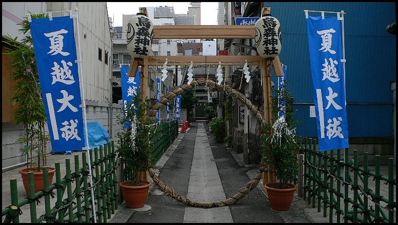 烏森神社の茅の輪01
