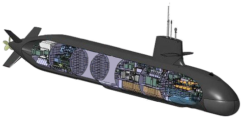 そうりゅう断面図(船体延長)2