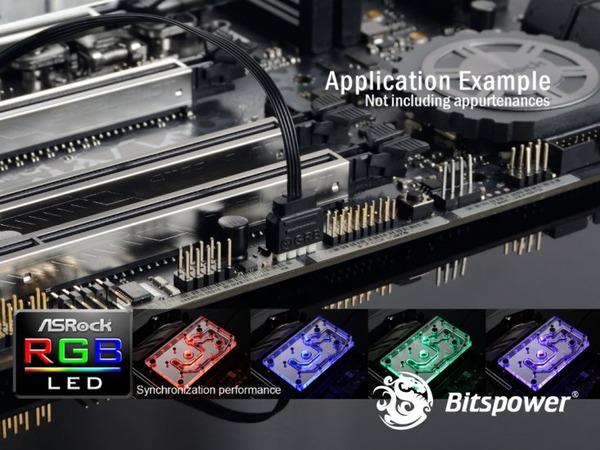 Bitspower MonoBlock ASROCK X399M Taichi RGB-Nickel (5)