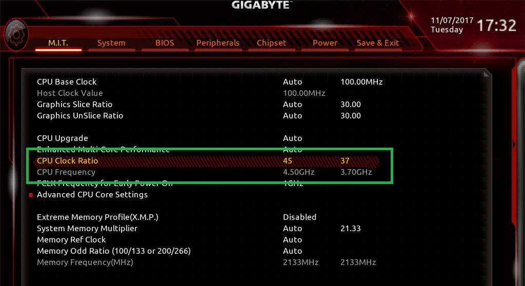 GIGABYTE Z370 AORUS Gaming 7_BIOS_OC_2
