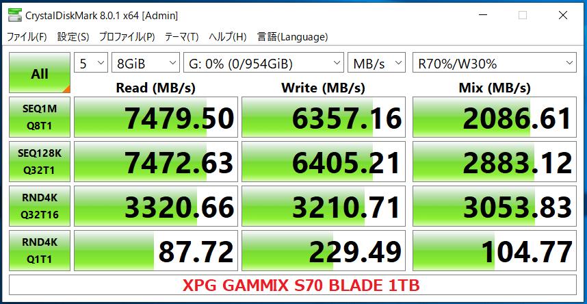 XPG GAMMIX S70 BLADE 1TB_CDM8