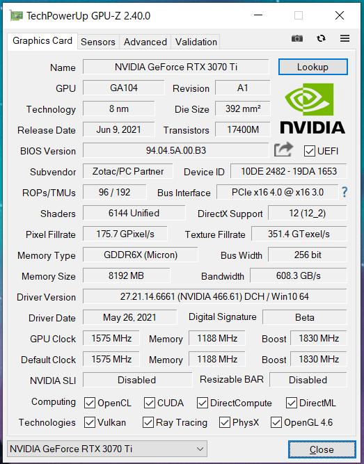 ZOTAC GAMING GeForce RTX 3070 Ti AMP Holo_GPU-Z (1)
