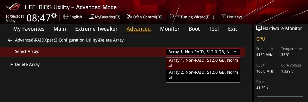 Threadripper NVMe RAID アレイ構築_8-1