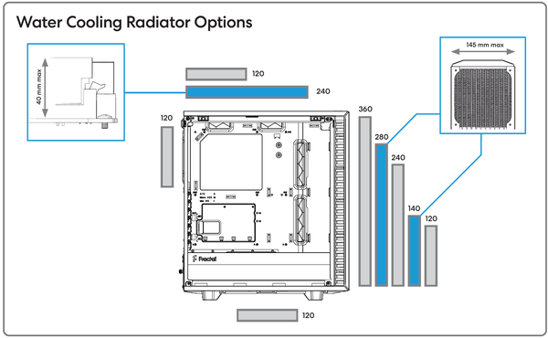 Fractal Design Define 7 Compact_radiator