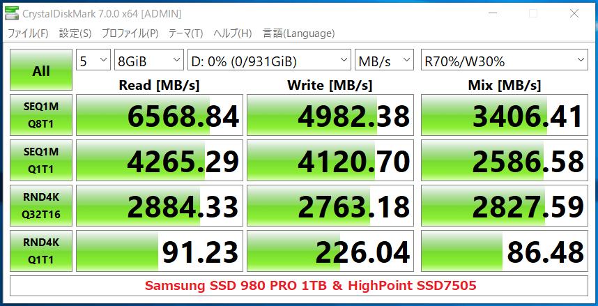 Samsung SSD 980 PRO 1TB_CDM7_HighPoint