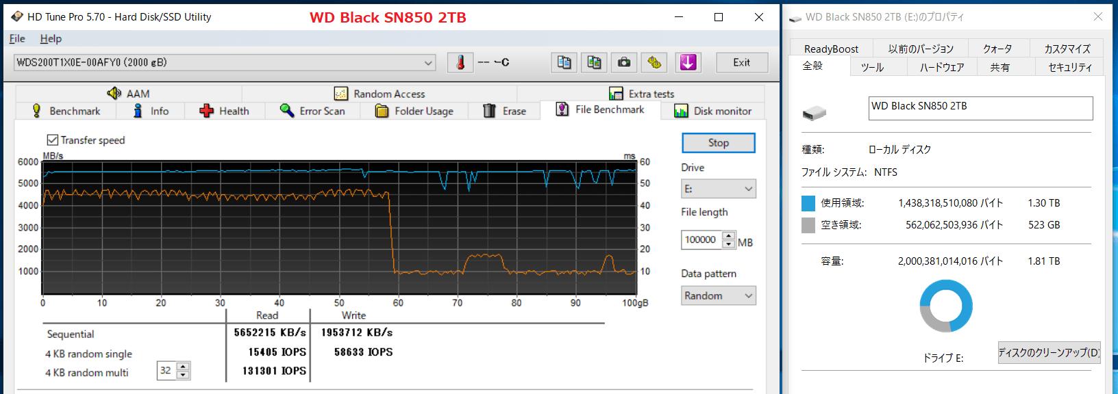 WD Black SN850 2TB_SLC-Cache_500GB-Free