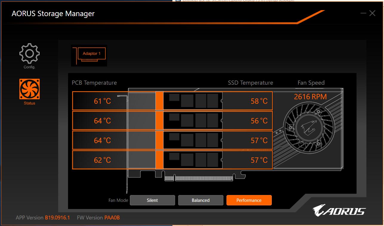 AORUS Gen4 AIC Adapter Card_temp_Performance