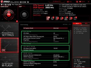 MSI X299 GAMING PRO CARBON AC_BIOS_OCtest_1