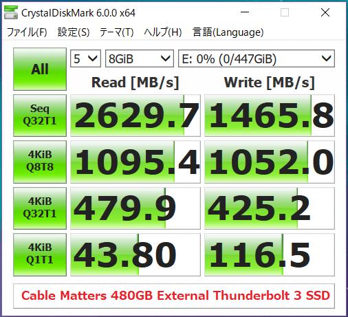 Dell Portable Thunderbolt 3 SSD 500GB_CDM