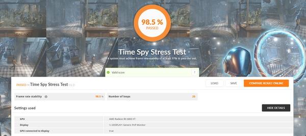 Radeon RX 6800 XT Reference_TimeSpy Stress Test