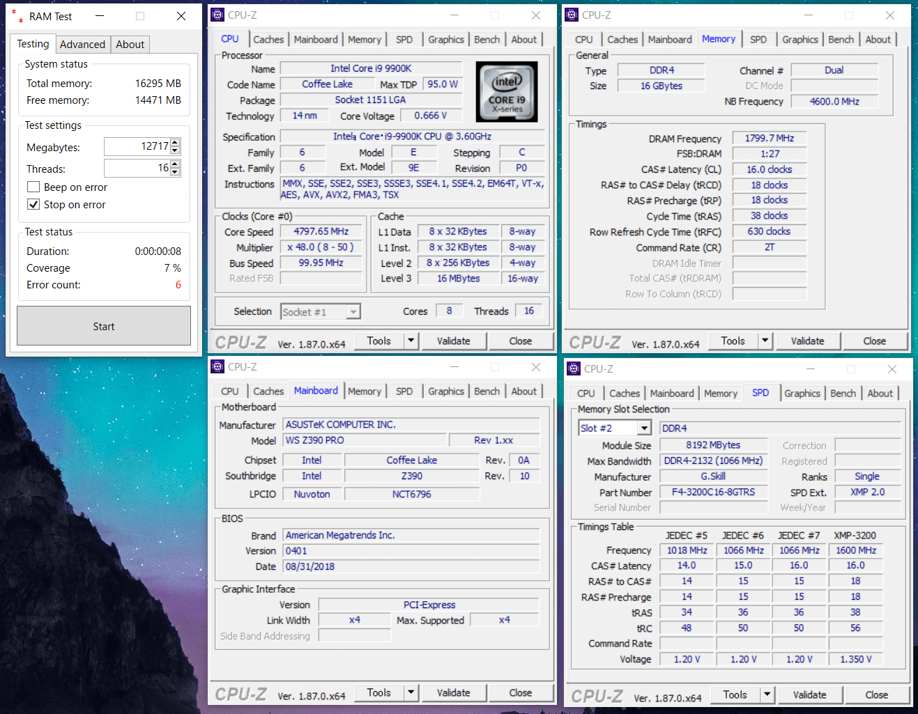 F4-3200C16D-16GTRS_OC_Core i9 9900K_Z390_3600MHz