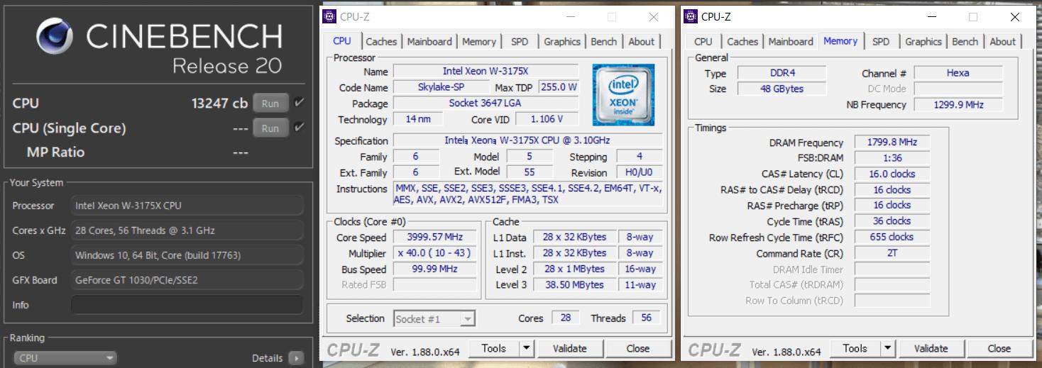 Intel Xeon W-3175X_cinebench-R20