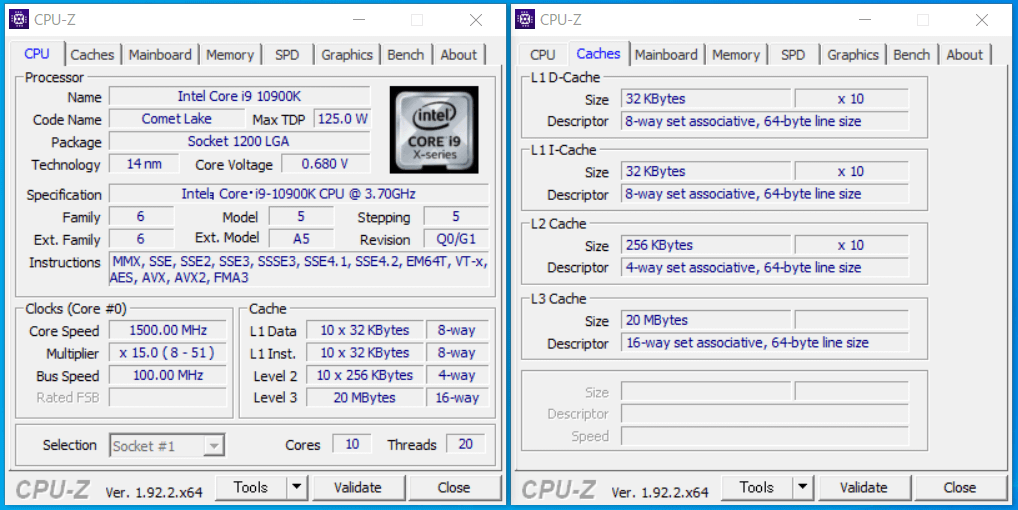 G-Master Hydro Z490_Core i9 10900K_CPU-Z
