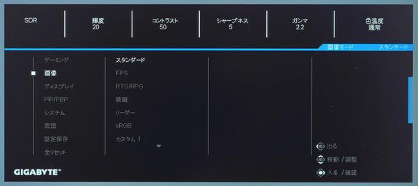 GIGABYTE M28U_OSD_menu (2)