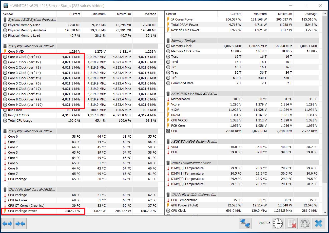 Intel Core i9 10850K_Boost-Clock_multi_PL2