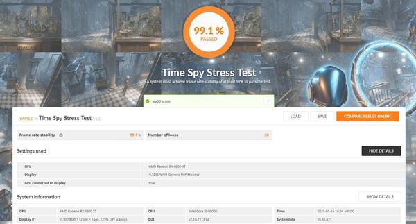 PowerColor Red Devil AMD Radeon RX 6800XT_TimeSpy Stress Test