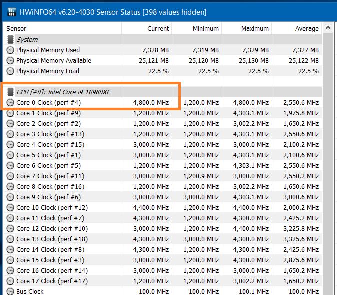Intel Core i9 10980XE_Core-Clock_Boost_Single