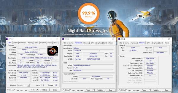 ASRock DeskMini X300_GPU-Stress_Crucial CT2K32G4SFD832A