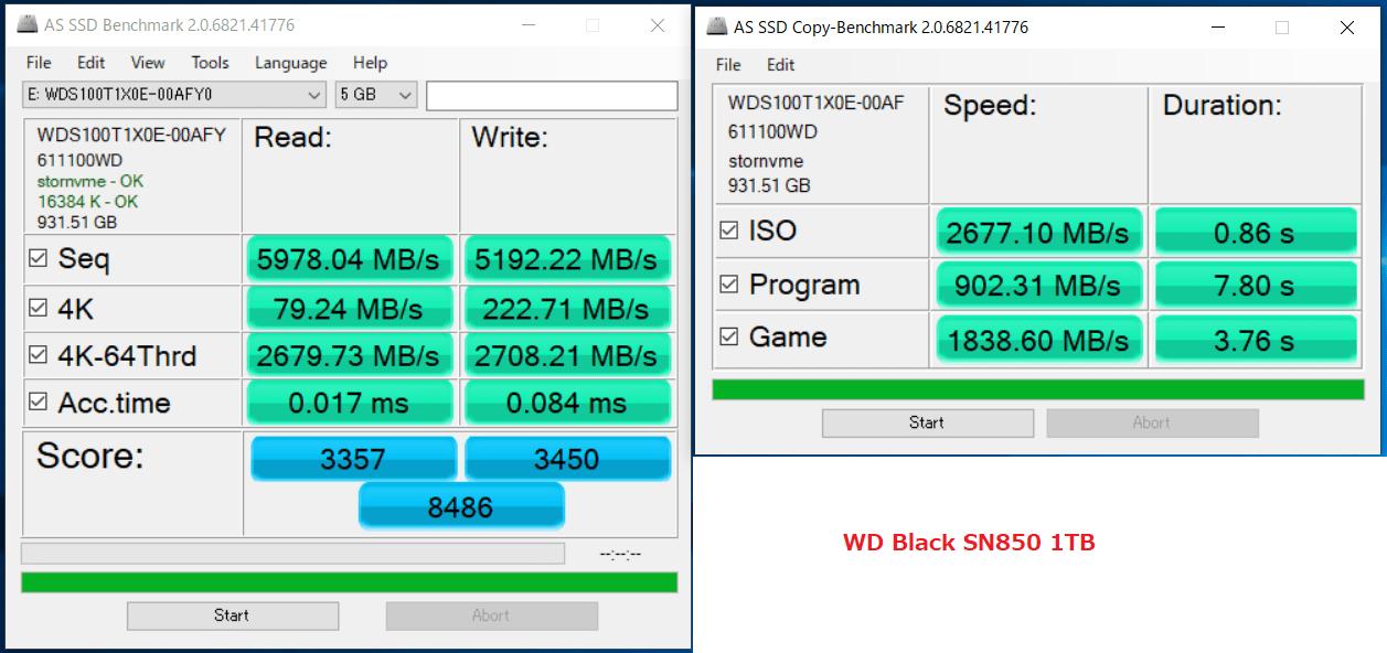 WD_BLACK SN850 NVMe SSD 1TB_AS