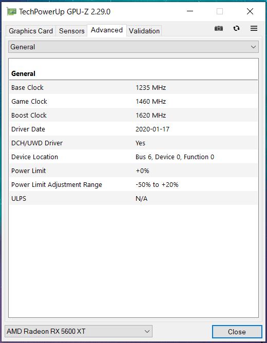 SAPPHIRE PULSE Radeon RX 5600 XT(SM)_GPU-Z (2)