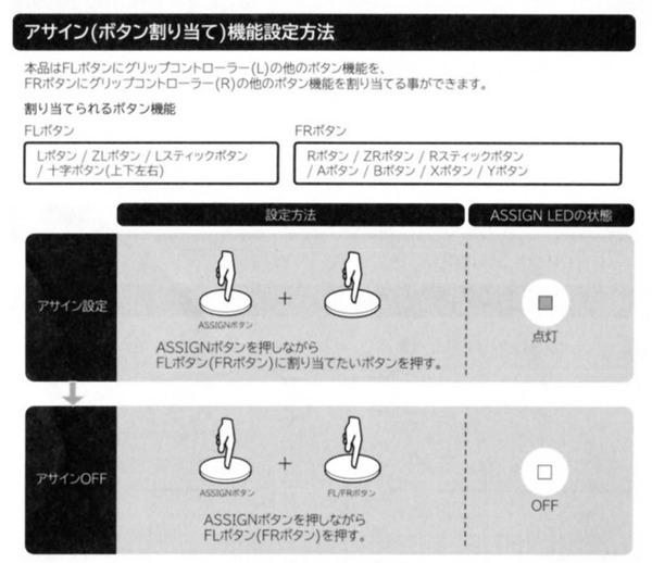 グリップコントローラー for Nintendo Switch_assign