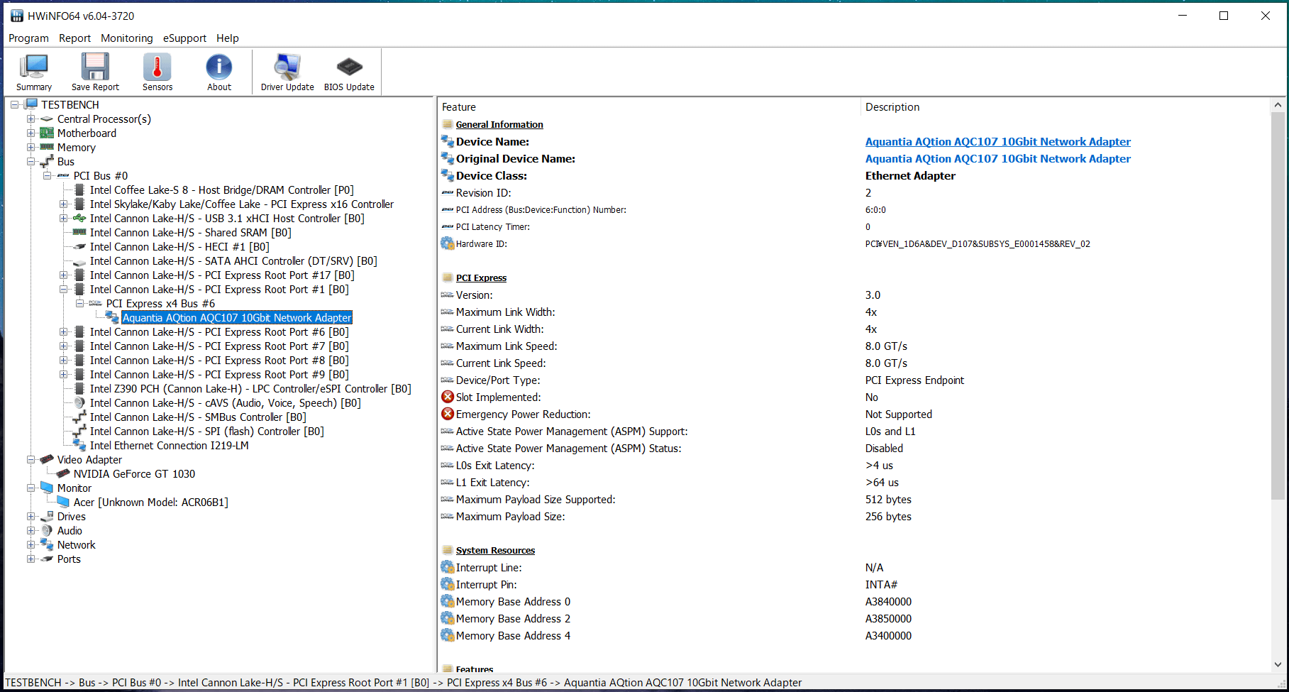 GIGABYTE GC-AQC107_PCIE_Link