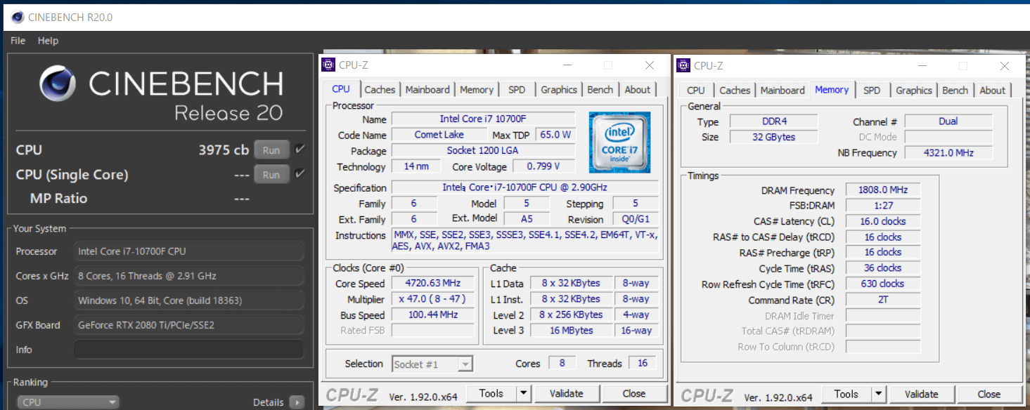 Intel Core i7 10700F_cinebench-R20
