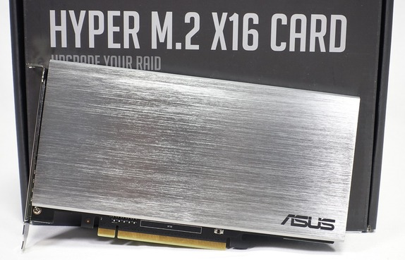 「ASUS HYPER M.2 X16 CARD」をレビュー