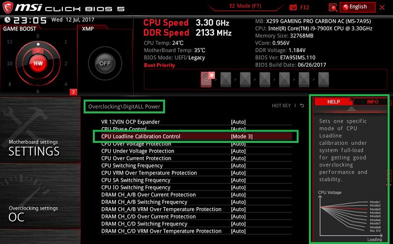 MSI X299 GAMING PRO CARBON AC_BIOS_OC_15