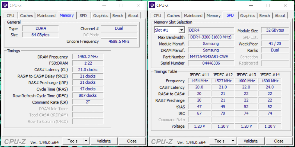 GIGABYTE AERO 15 OLED_Memory_CPU-Z