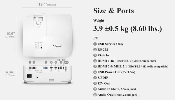 Optoma UHD50X_size