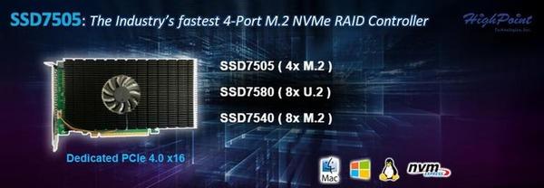 HighPoint SSD7505_top
