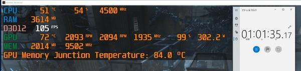 ZOTAC GAMING GeForce RTX 3070 Ti AMP Holo_stress