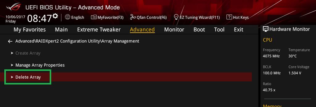 Threadripper NVMe RAID アレイ構築_7