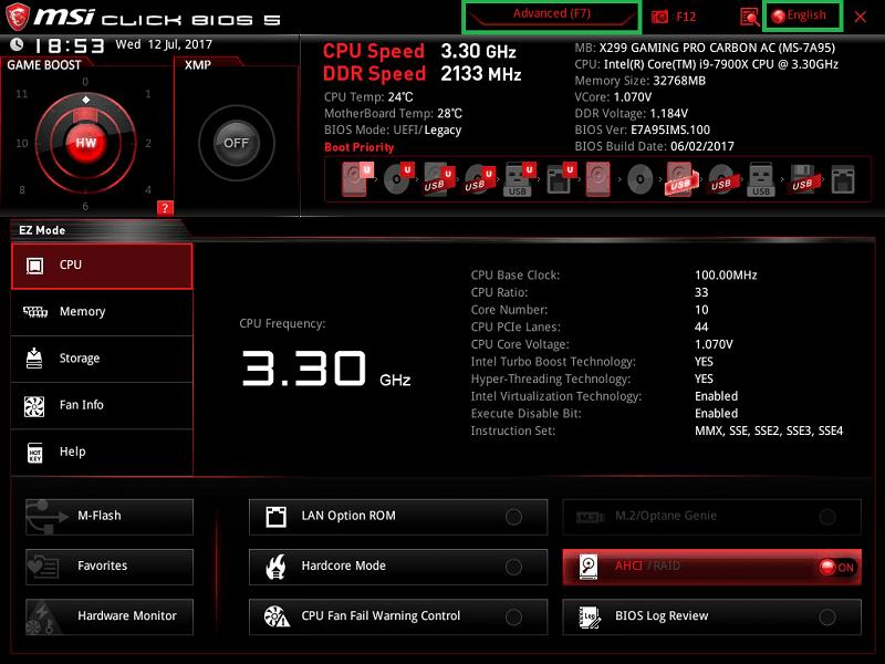 MSI X299 GAMING PRO CARBON AC_BIOS_1