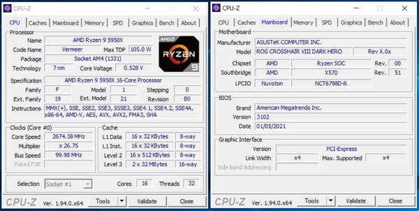 ASUS ROG Crosshair VIII Dark Hero_5950X_OC_CPU-Z (1)