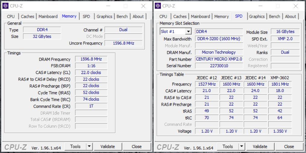 G-GEAR alpha GS7A-B204TWH_Memory_CPU-Z